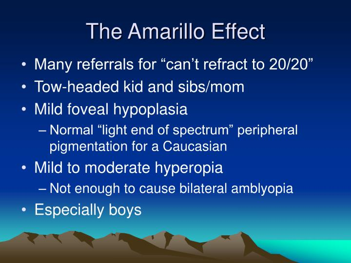 The Amarillo Effect