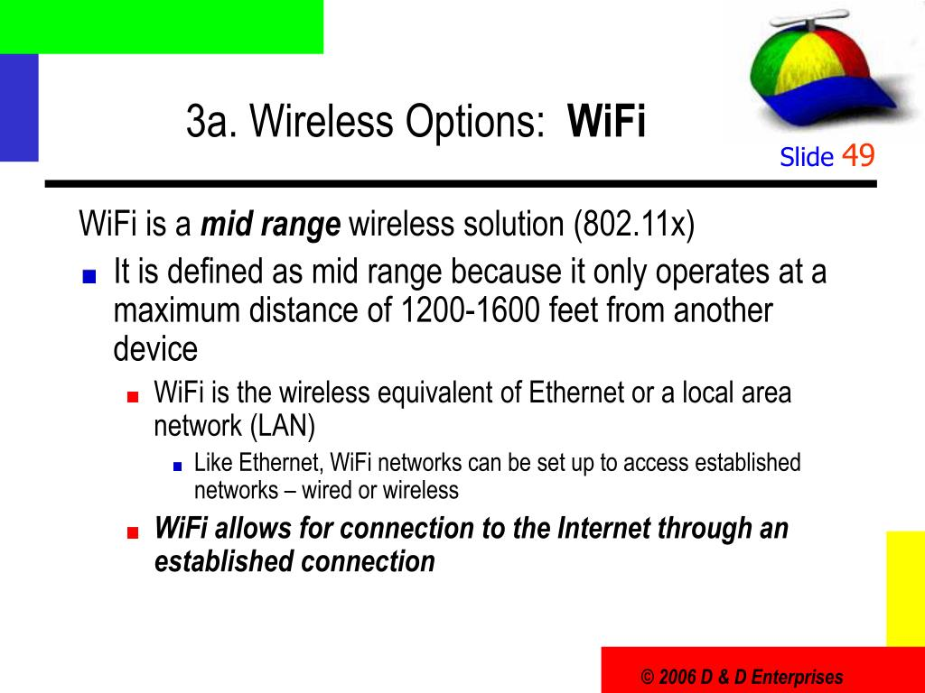 3a. Wireless Options: