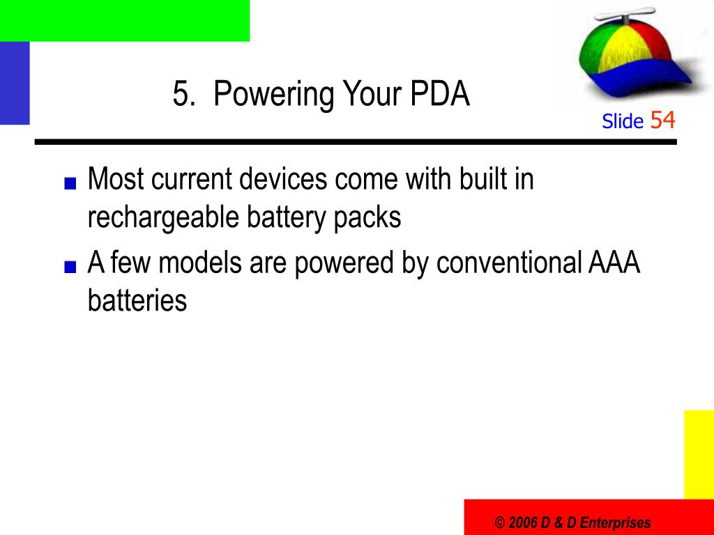 5.  Powering Your PDA