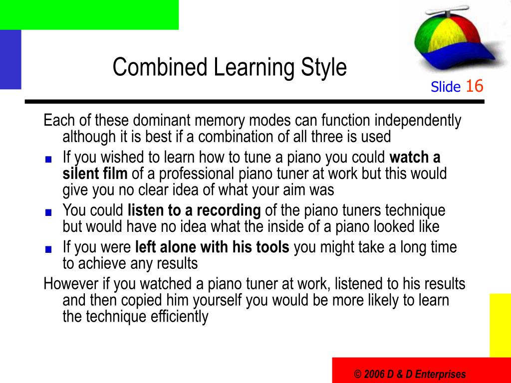 Combined Learning Style