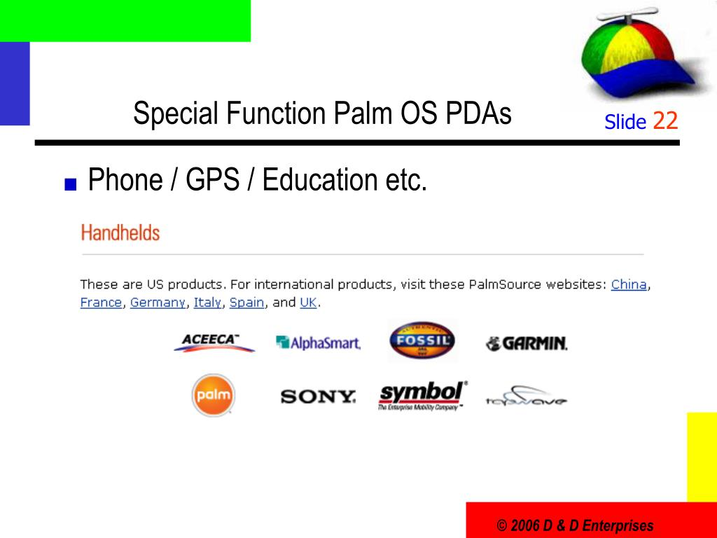 Special Function Palm OS PDAs