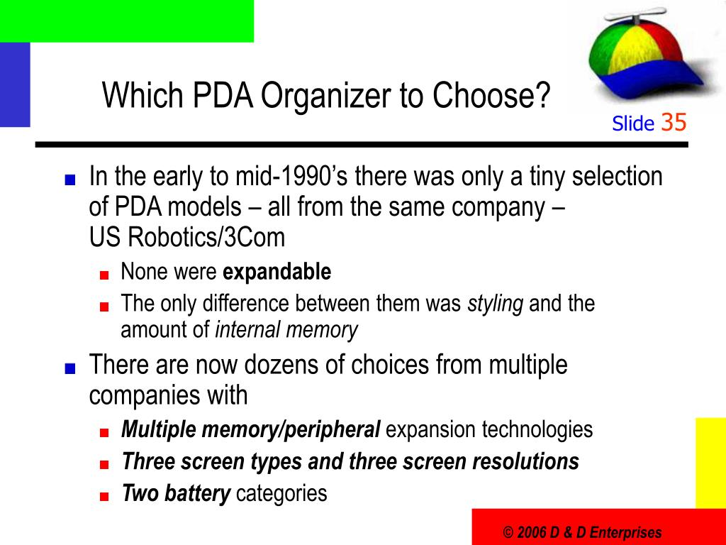 Which PDA Organizer to Choose?