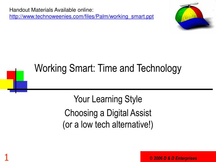 Working smart time and technology