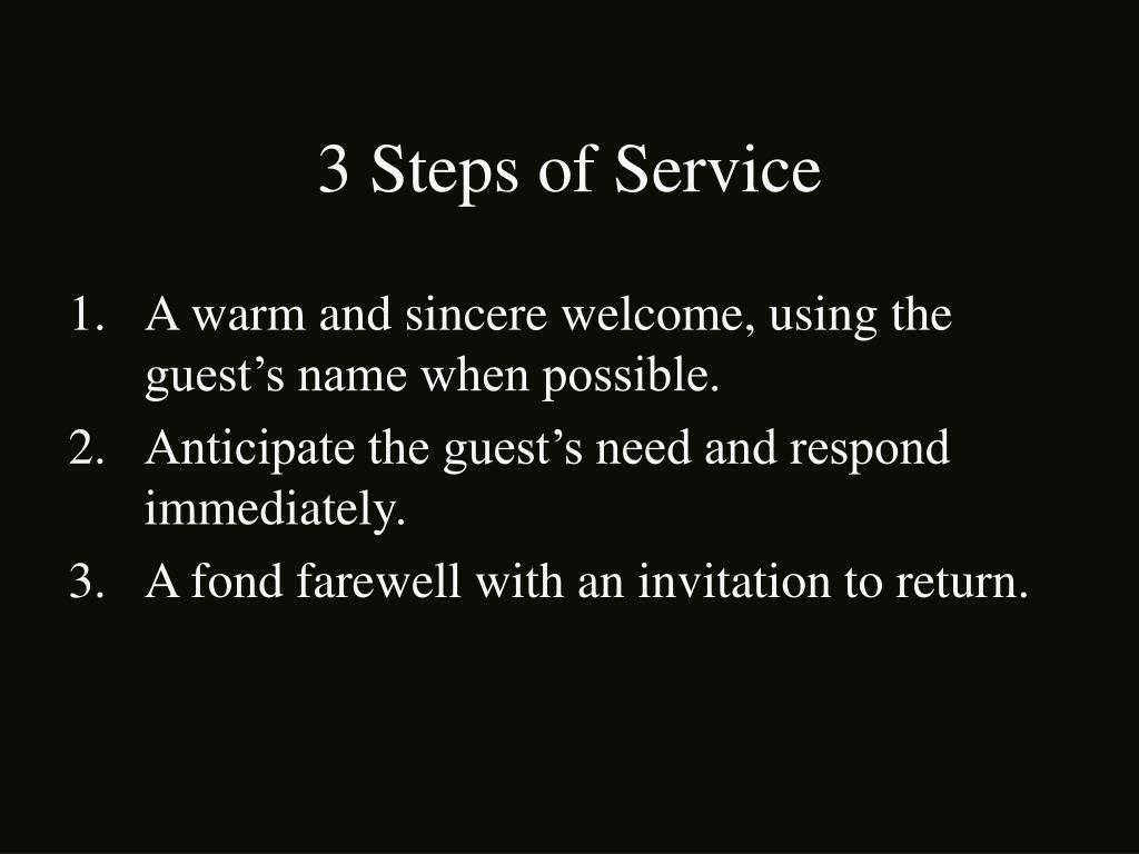 3 Steps of Service