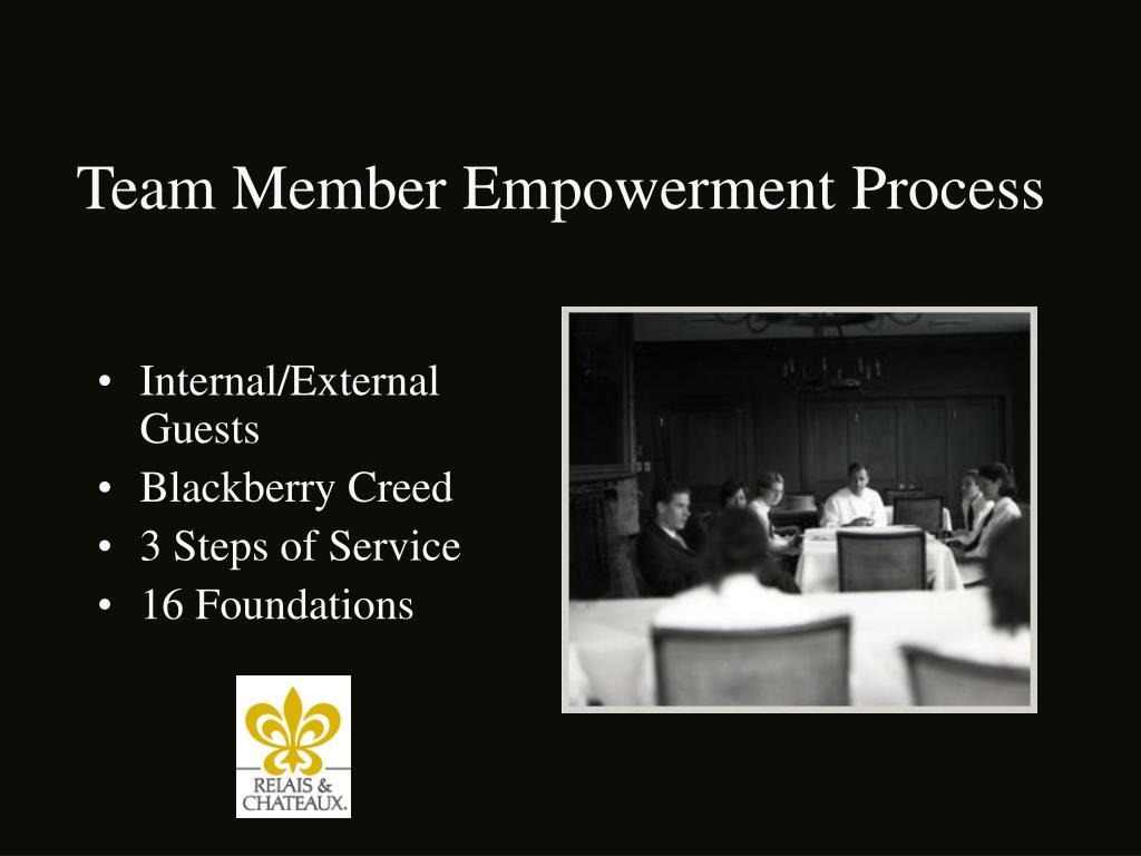 Team Member Empowerment Process
