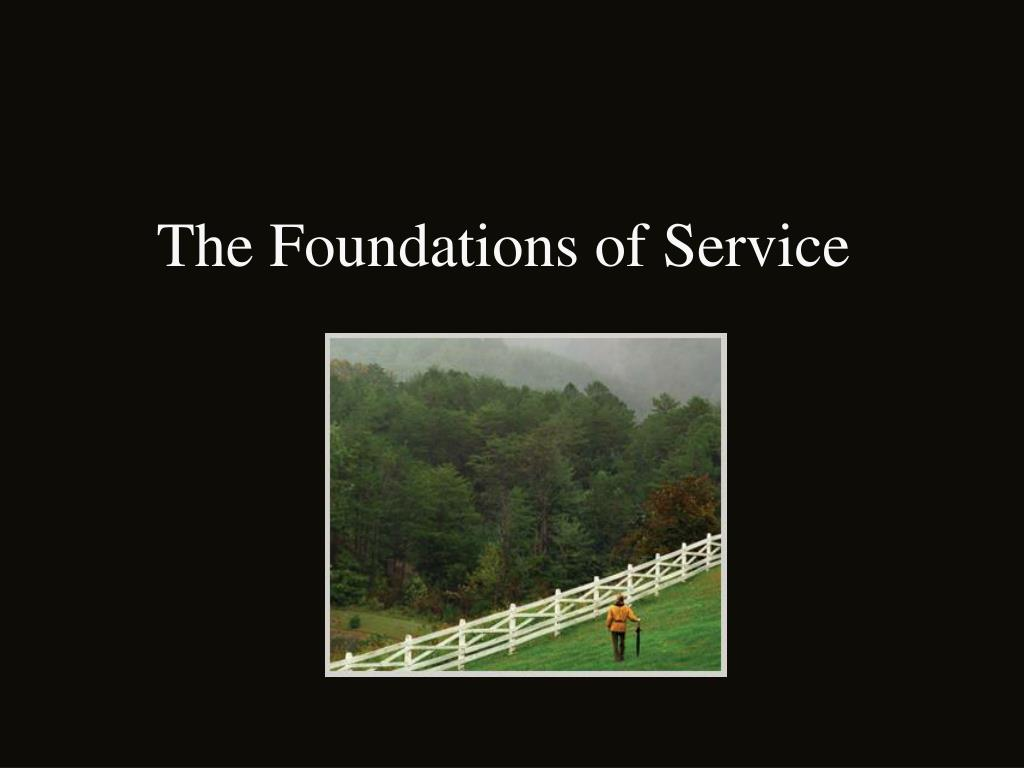 The Foundations of Service