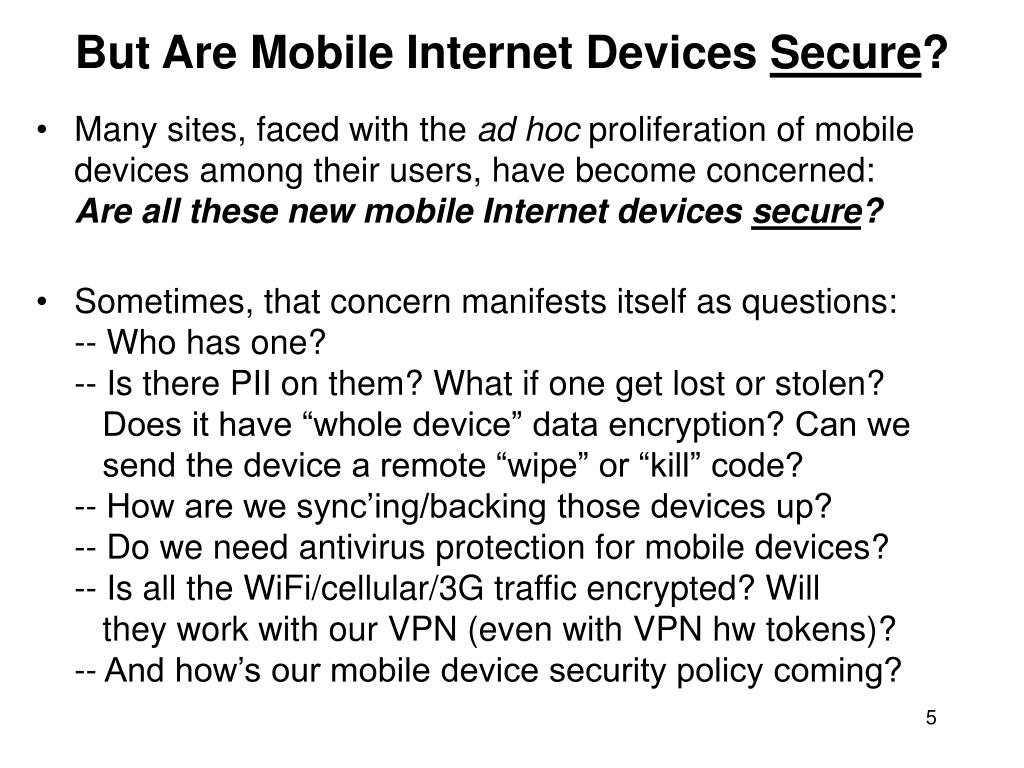 But Are Mobile Internet Devices