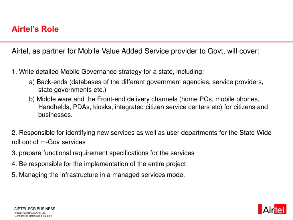Airtel's Role