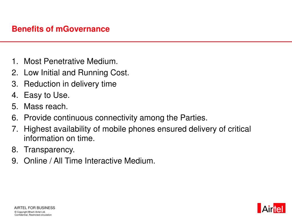 Benefits of mGovernance