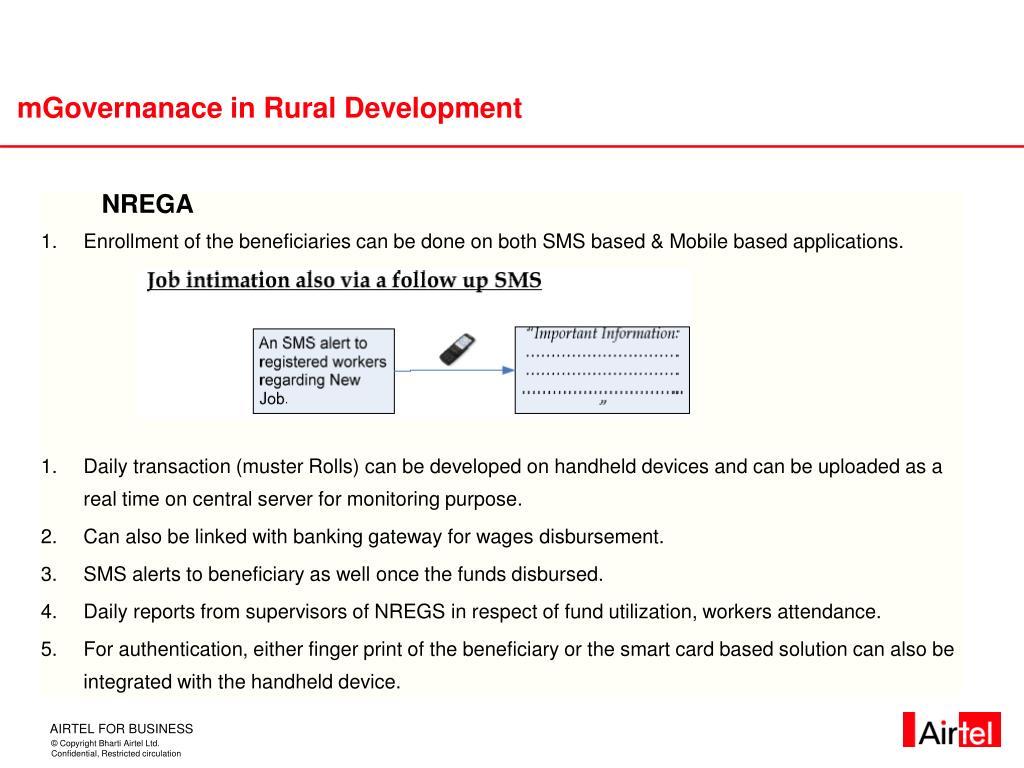 mGovernanace in Rural Development