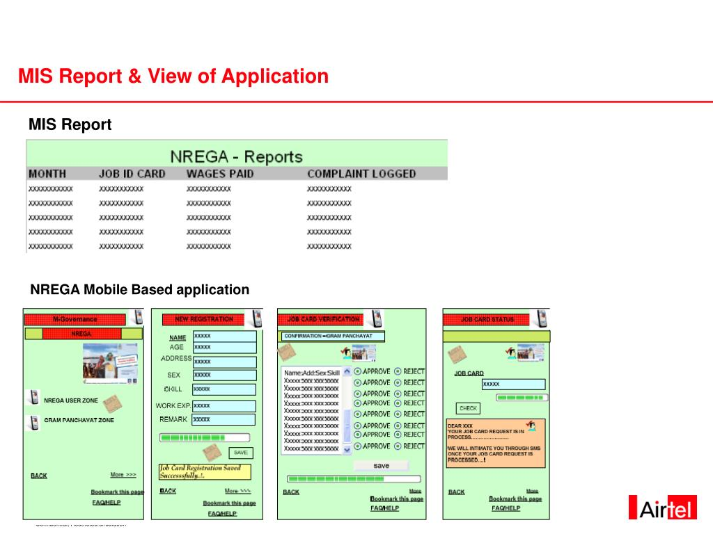 MIS Report & View of Application