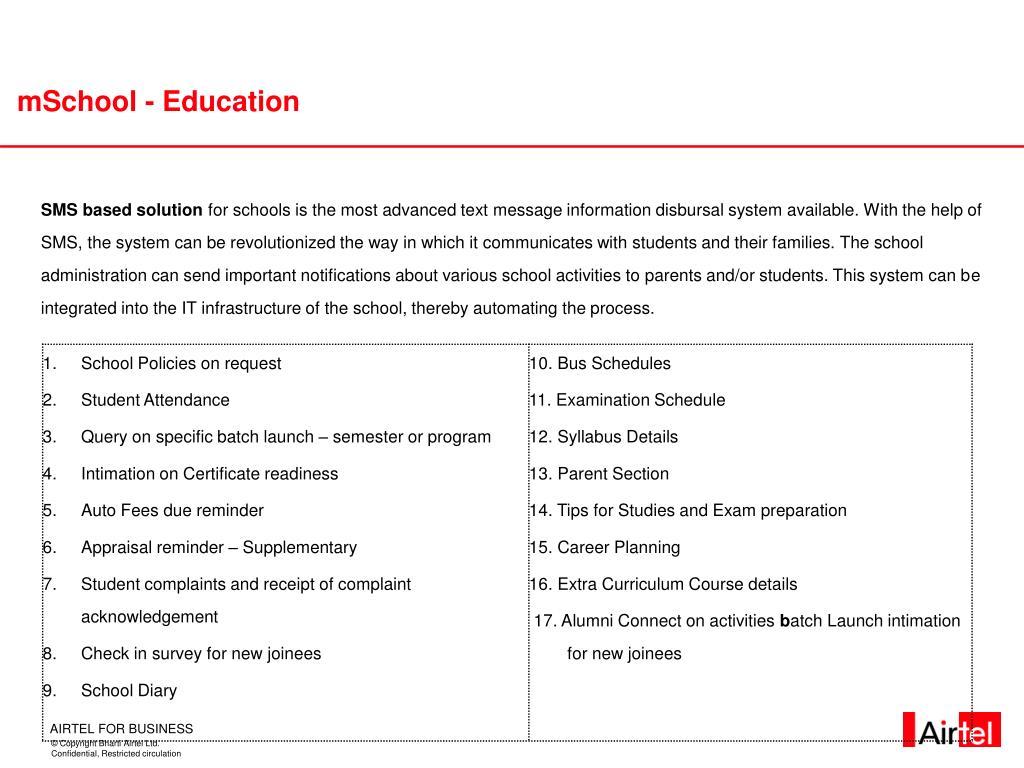 mSchool - Education