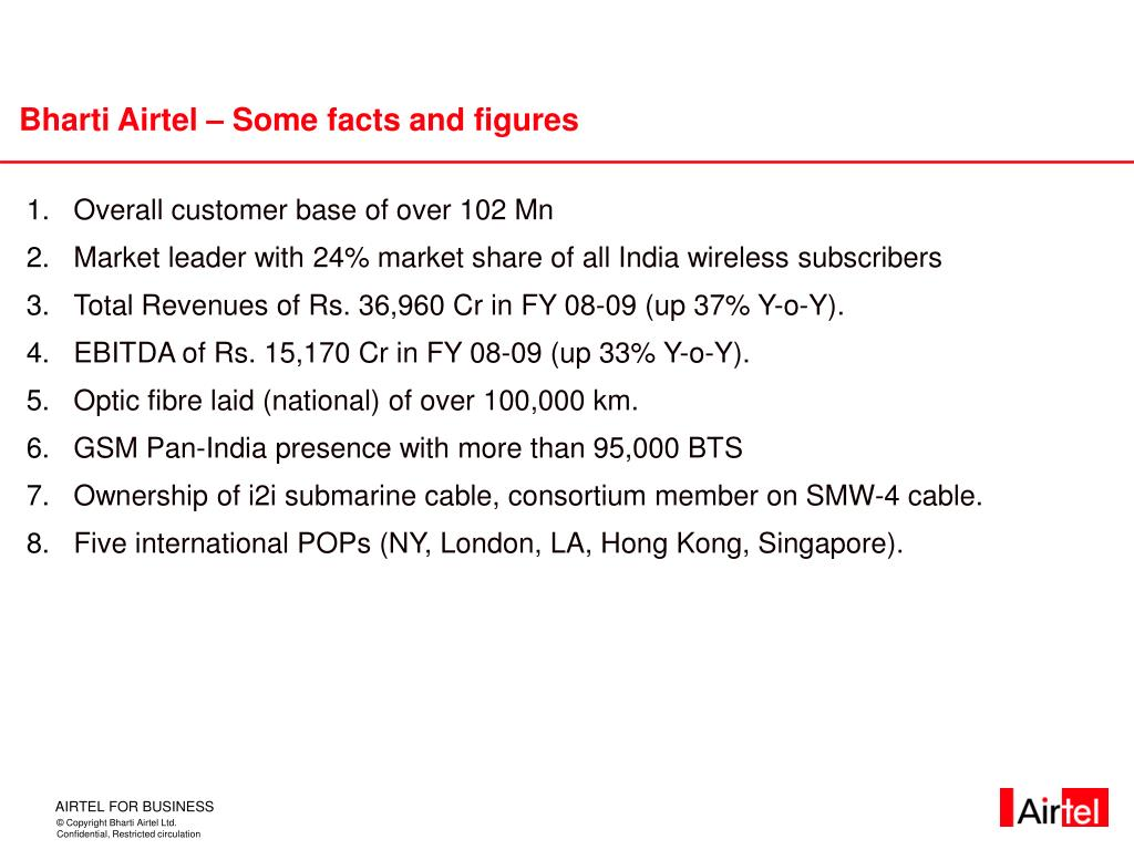 Bharti Airtel – Some facts and figures