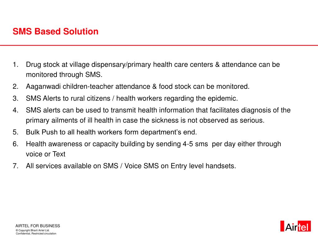 SMS Based Solution