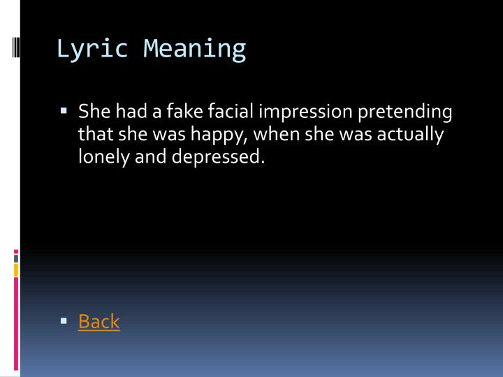 Lyric Meaning