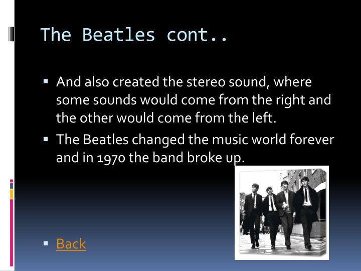 The Beatles cont..