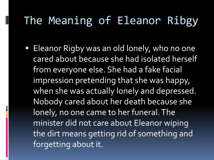 The Meaning of Eleanor