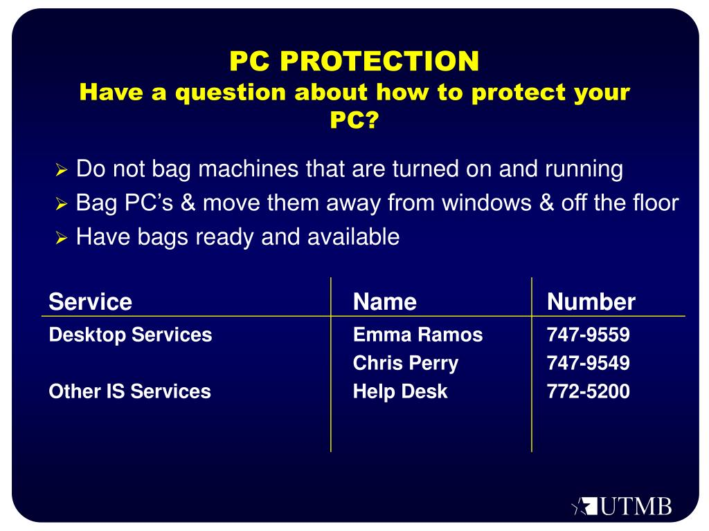 PC PROTECTION