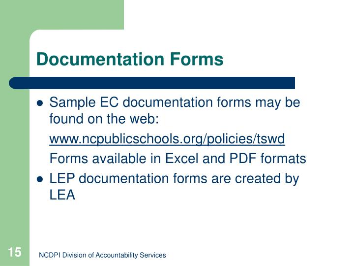 Documentation Forms