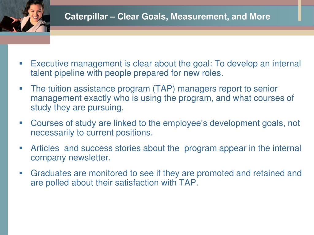 Caterpillar – Clear Goals, Measurement, and More