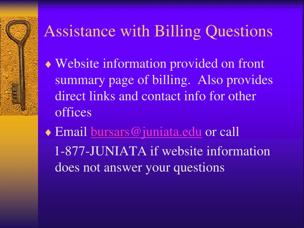 Assistance with Billing Questions