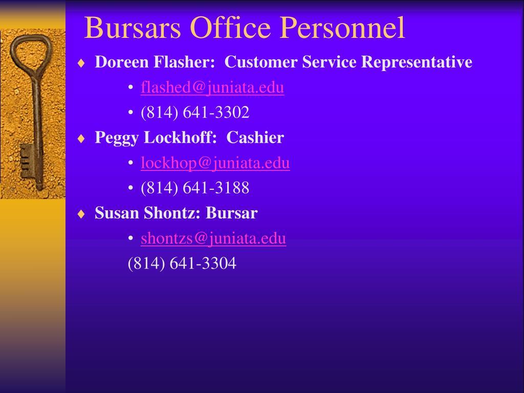 Bursars Office Personnel