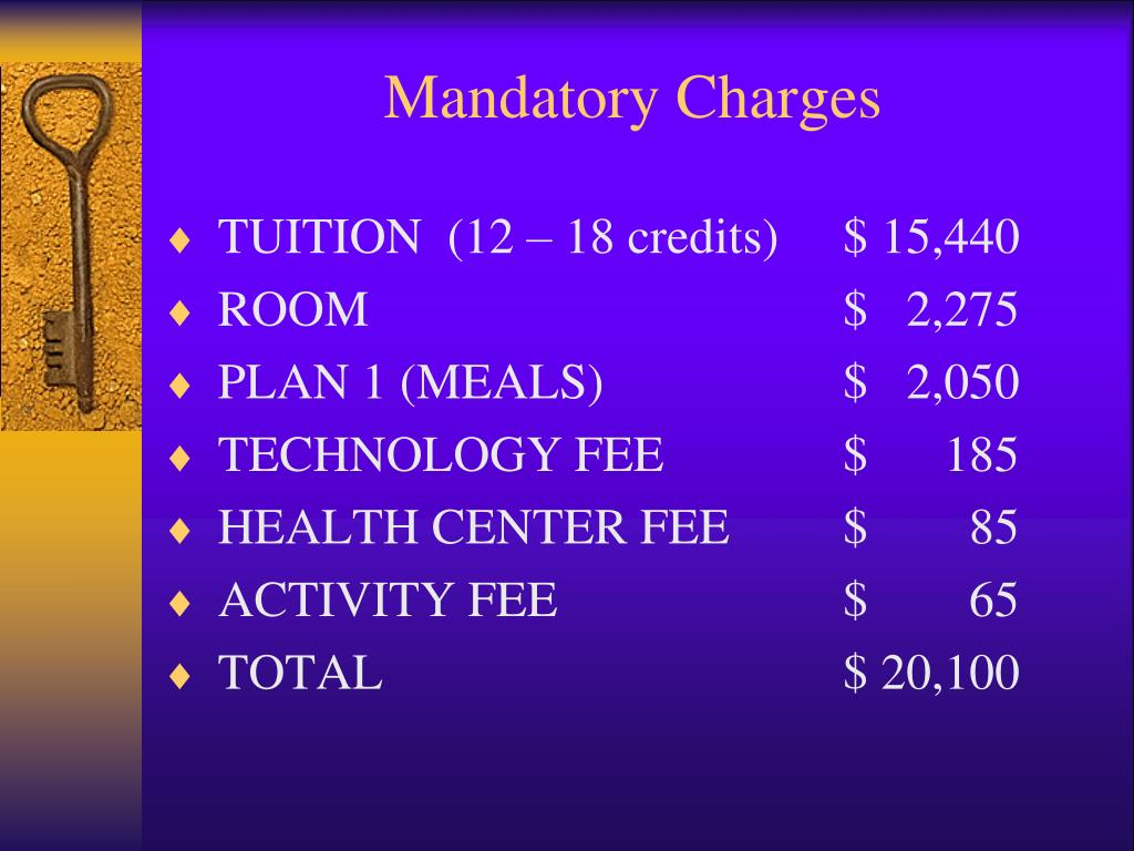 Mandatory Charges