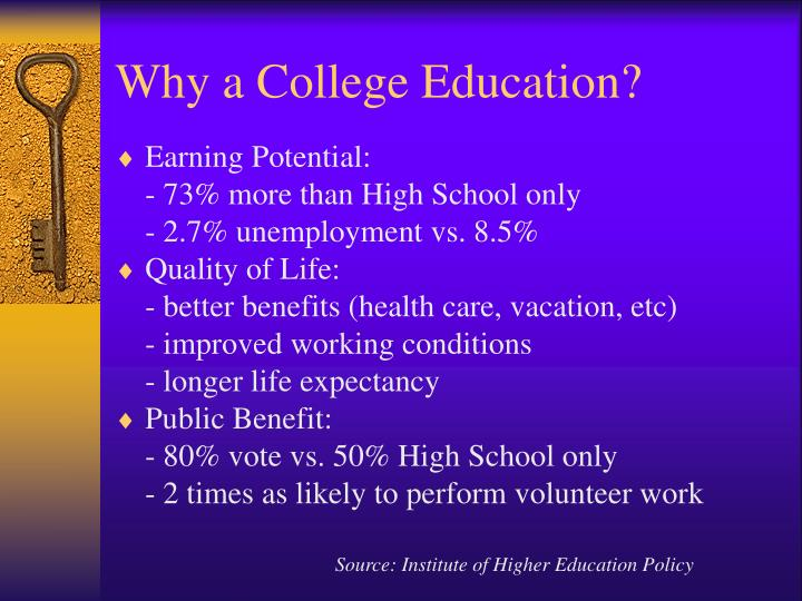 Why a college education