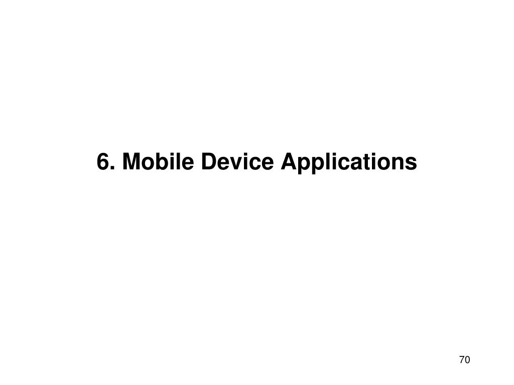 6. Mobile Device Applications