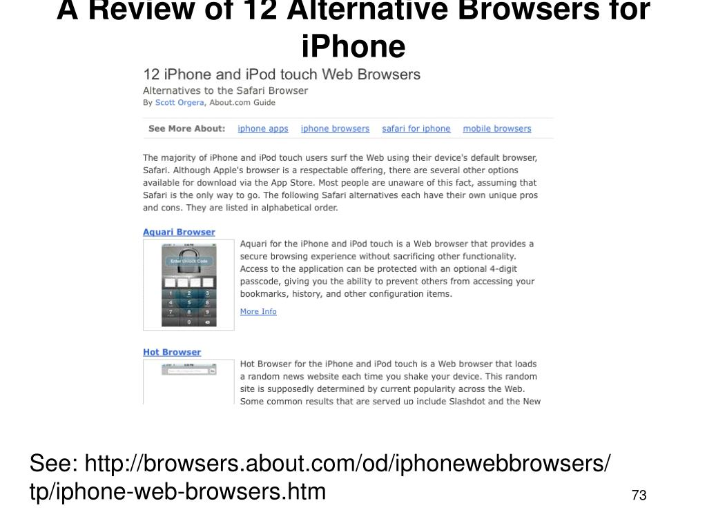 A Review of 12 Alternative Browsers for iPhone