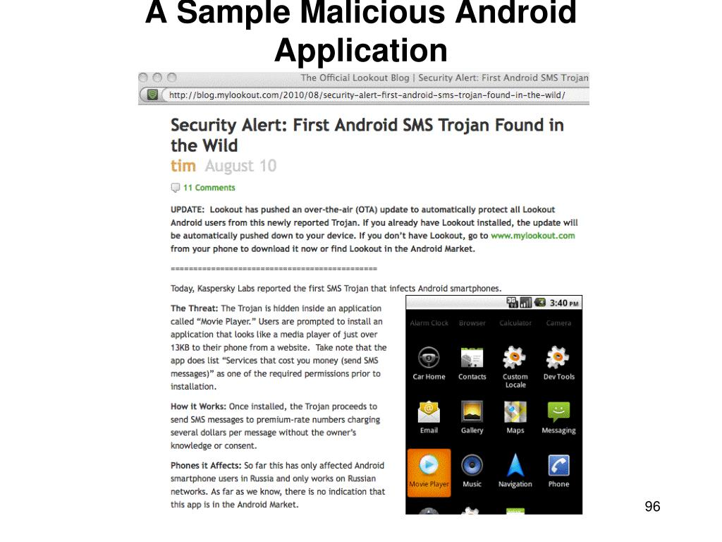 A Sample Malicious Android Application