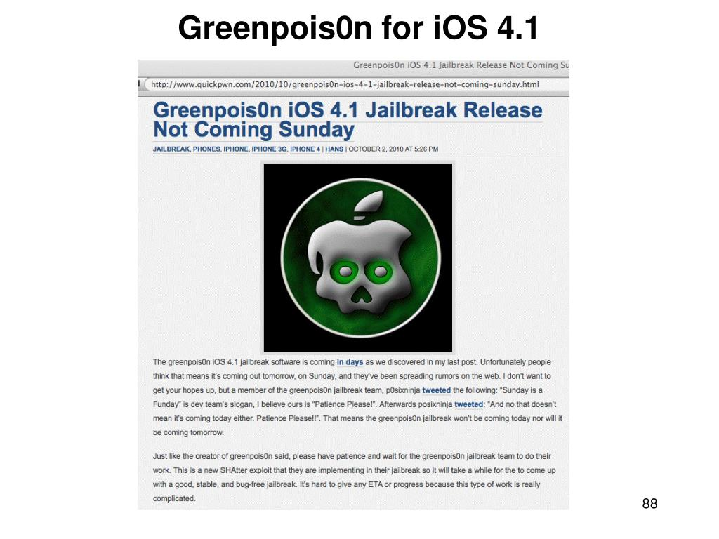 Greenpois0n for iOS 4.1
