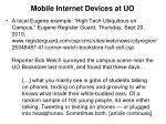 mobile internet devices at uo