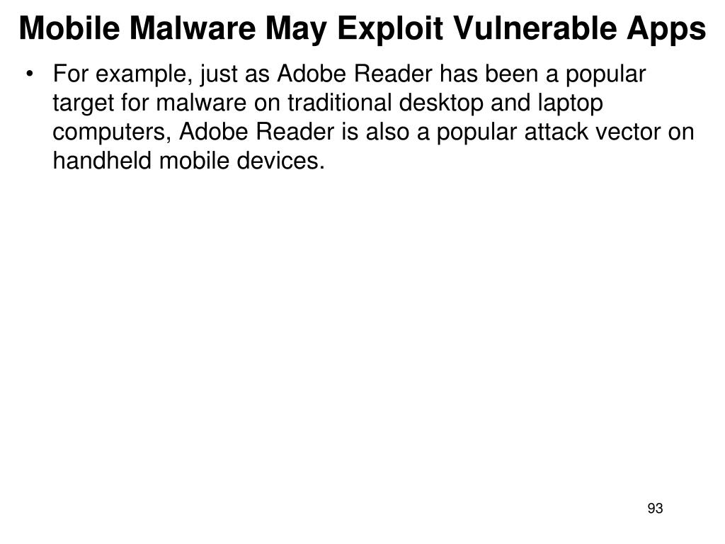 Mobile Malware May Exploit Vulnerable Apps