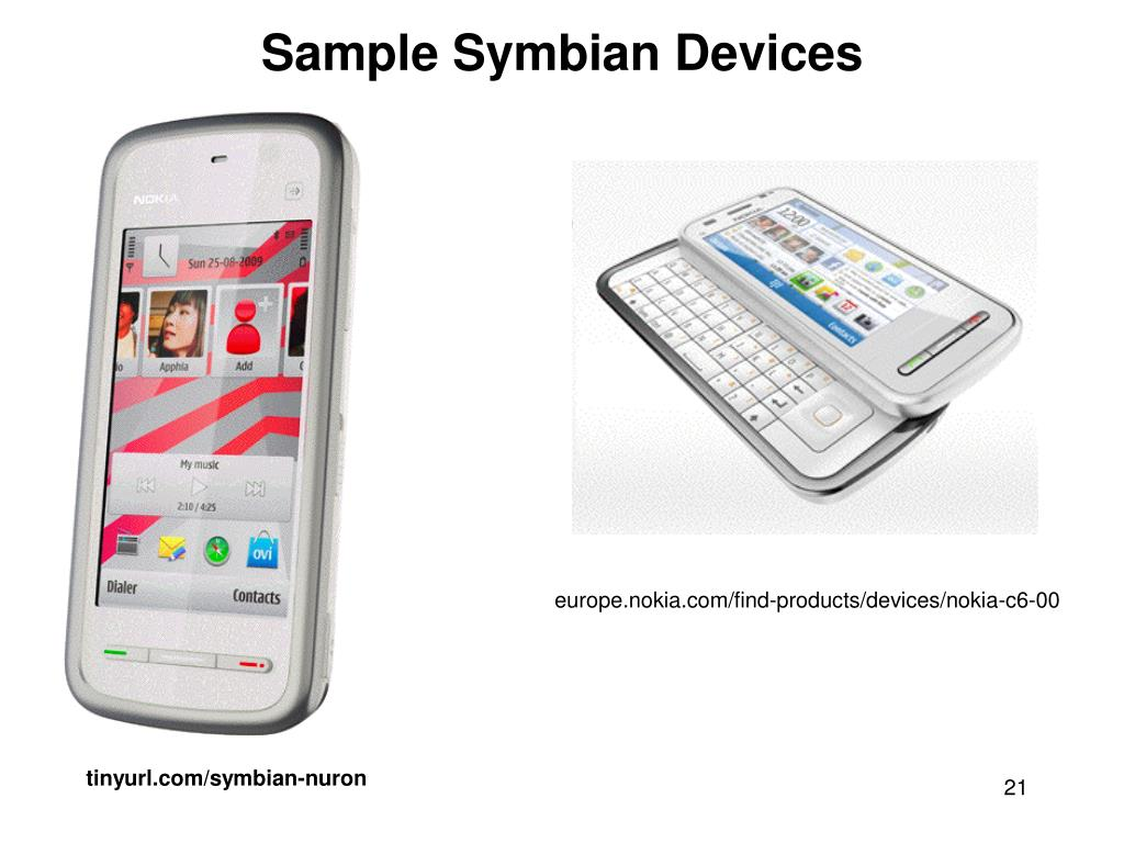 Sample Symbian Devices