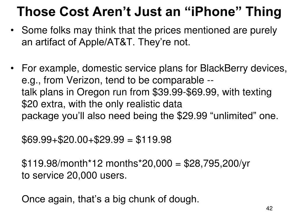 "Those Cost Aren't Just an ""iPhone"" Thing"