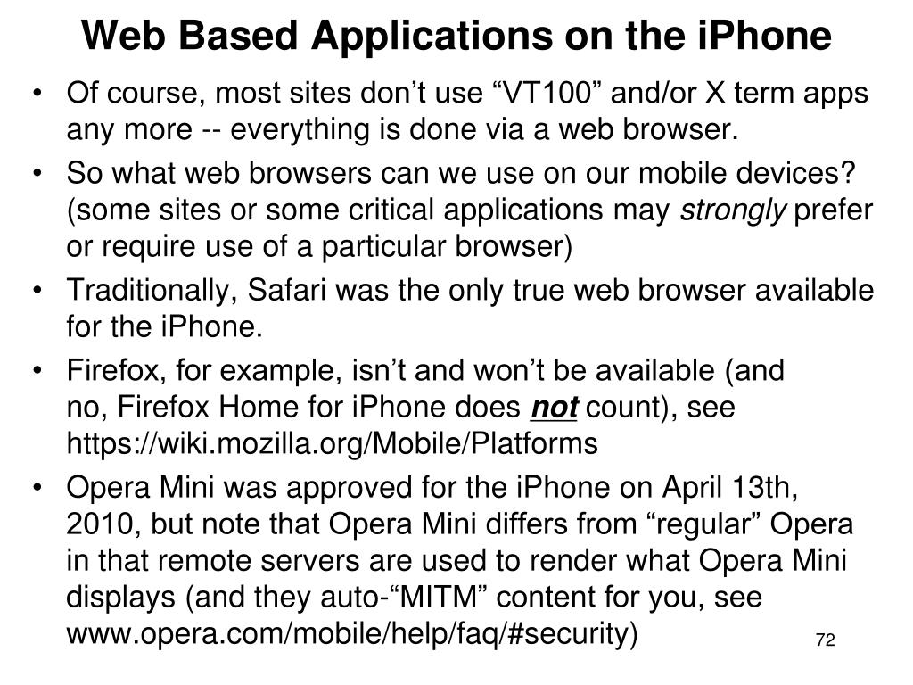 Web Based Applications on the iPhone