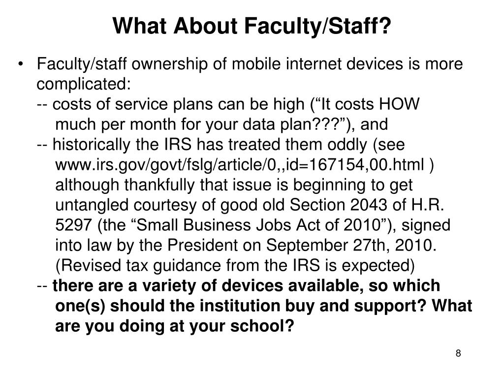 What About Faculty/Staff?
