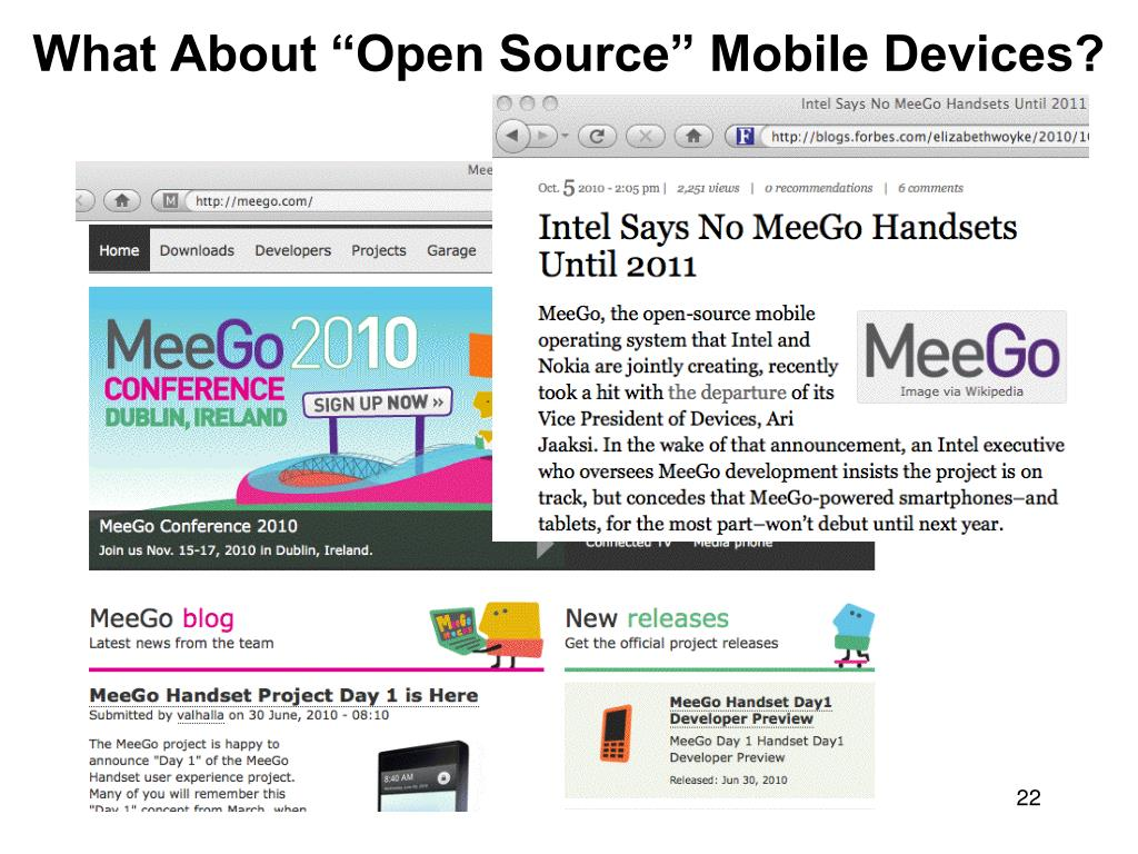 "What About ""Open Source"" Mobile Devices?"