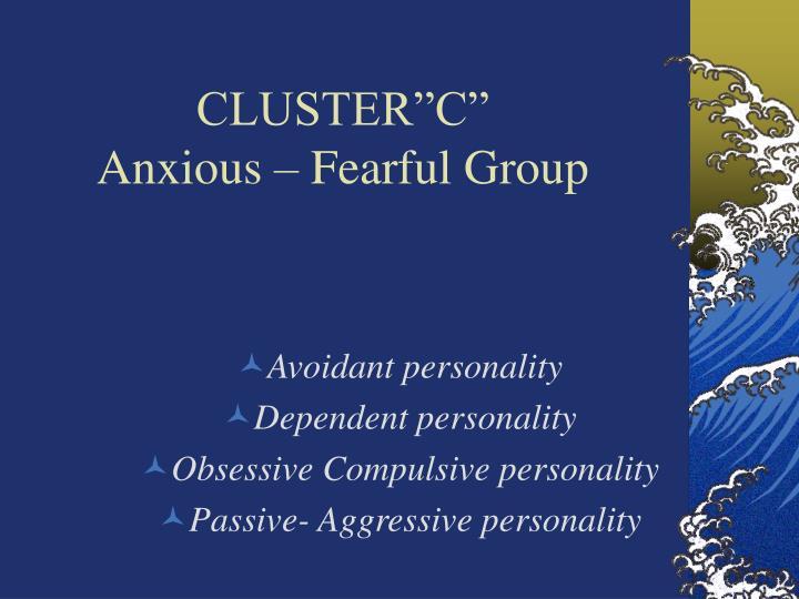 """CLUSTER""""C"""""""