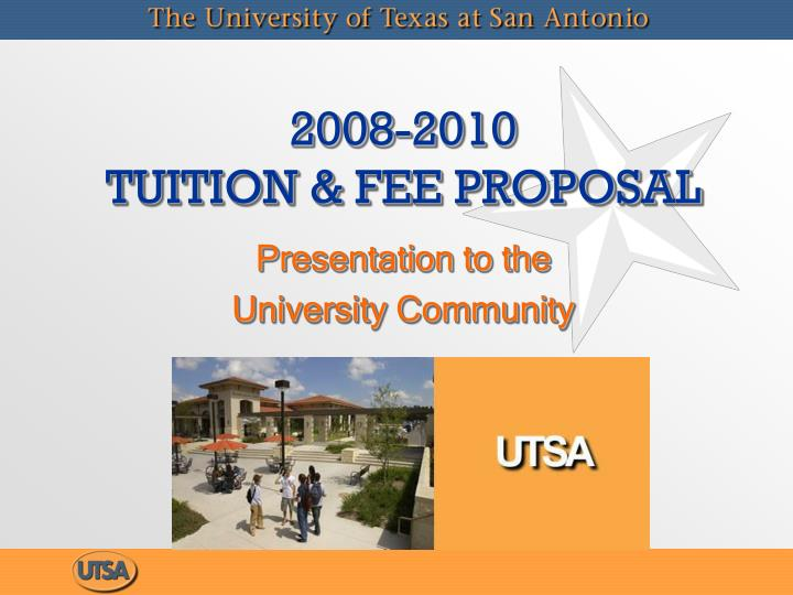 2008 2010 tuition fee proposal