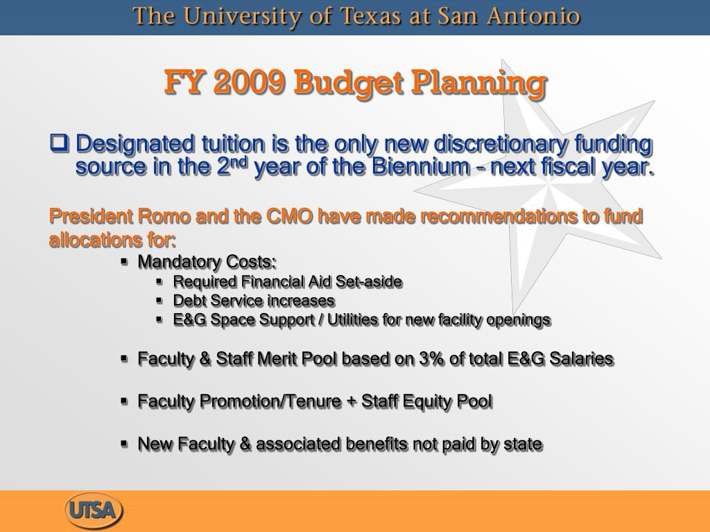 FY 2009 Budget Planning