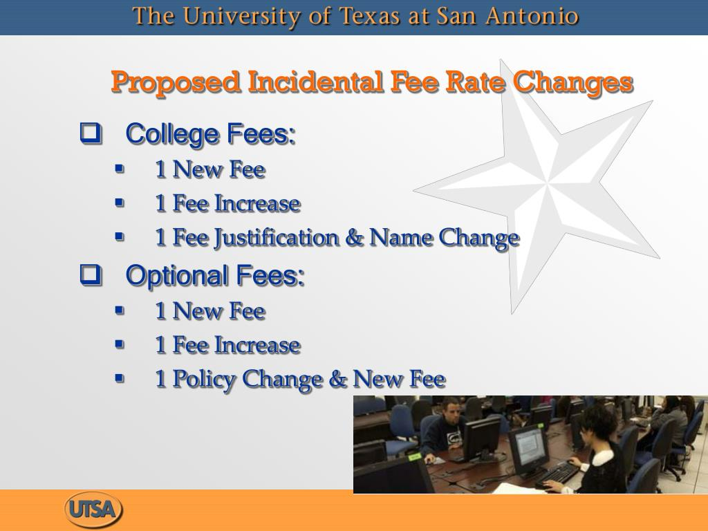 Proposed Incidental Fee Rate Changes