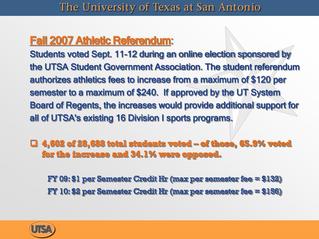 Fall 2007 Athletic Referendum