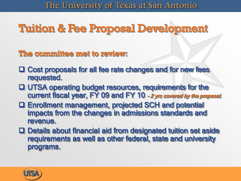 Tuition & Fee Proposal Development