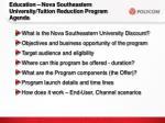 education nova southeastern university tuition reduction program agenda