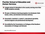fischler school of education and human services