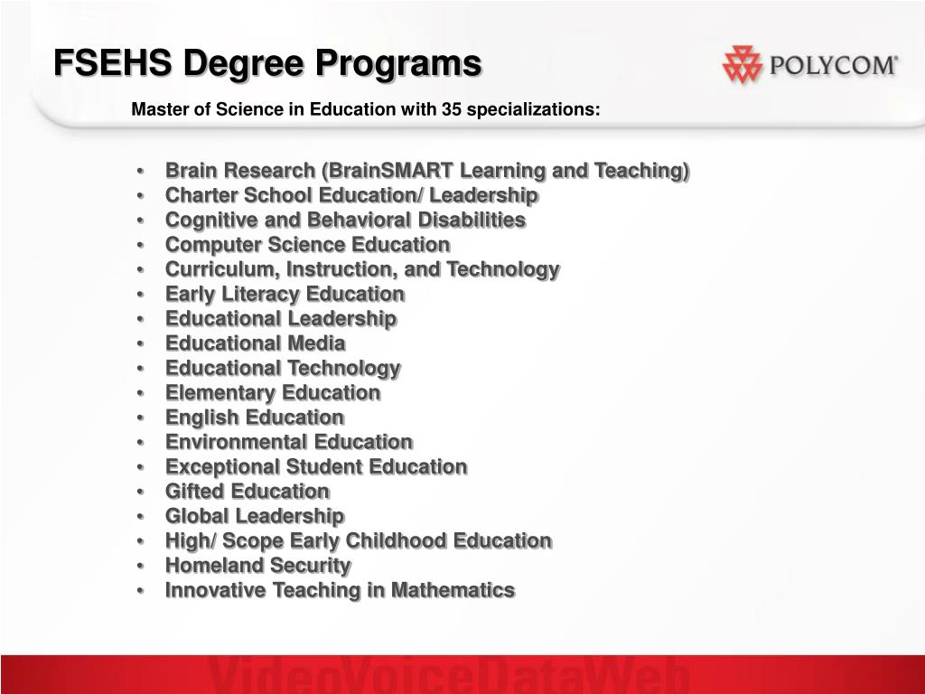 FSEHS Degree Programs