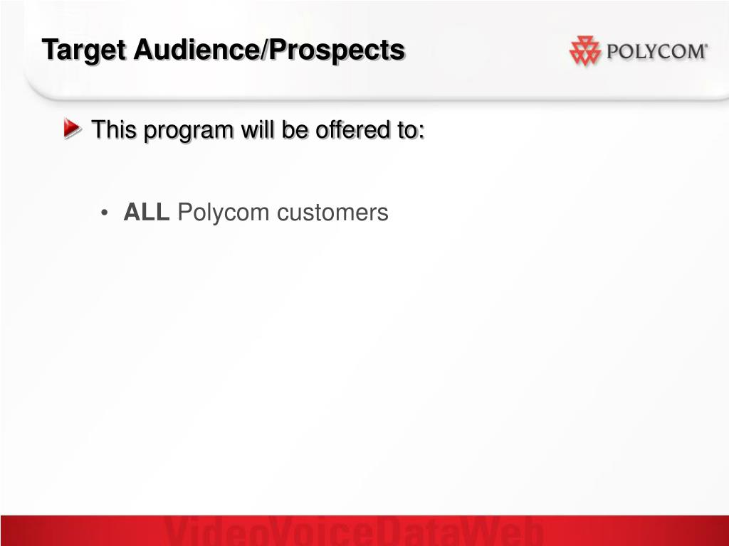 Target Audience/Prospects