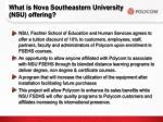 what is nova southeastern university nsu offering